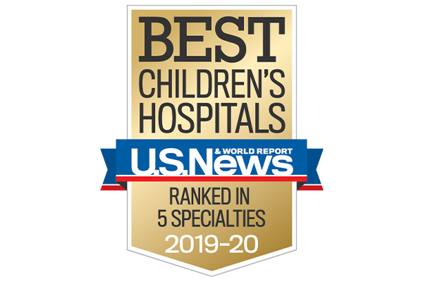 Seal of he US News Best Children's Hospital